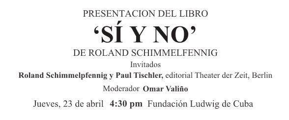 2015 - 04 - 23 - Schimmelpfennig Buchpräsentation Havanna